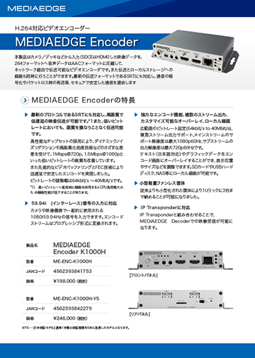 MEDIAEDGE Encoder
